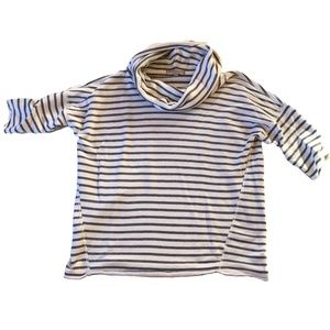 Gap oversized striped top grey french terry small
